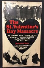 THE ST. VALENTINE'S DAY MASSACRE by Boris O'Hara (1967) Dell movie pb 1st