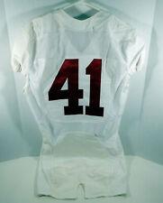 2009-15 Alabama Crimson Tide #41 Game Used White Jersey BAMA00090