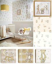 BEAR HUGS Teddy Bear Stars Moon Nursery Children's Children Kids Wallpaper & Art