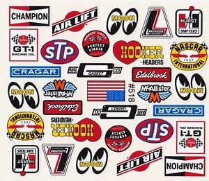 Classic Racing Decals Sticker Set for 1:10 RC car or truck.part # D518