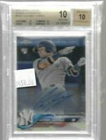 Gleyber Torres 2018 Topps Chrome rookie autograph BGS 10 Pristine - Yankees