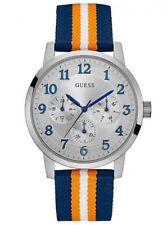 Relojes de pulsera GUESS de acero inoxidable de tela/cuero
