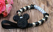 Personalised Stunning mickey like Dummy Clip Chain Any Name for reborn dolls