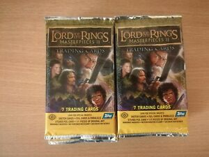 Lord Of The Rings Masterpieces 2 Lot Of 20 Factory Sealed Hobby Packs Sketch ??
