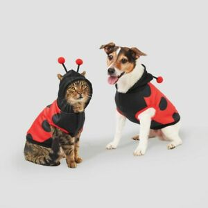 Ladybug Halloween Dog and Cat Hoodie - S - Hyde & EEK! Boutique Sz small to 25lb