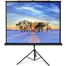 7 x 5 FT Foldable Stand Tripod Portable Projector Screen 100 Inch Diagonal  New