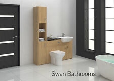 OAK BATHROOM FITTED FURNITURE 1600MM WITH TALL UNIT