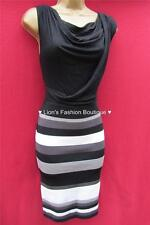 Cowl Neck Party Striped Dresses for Women
