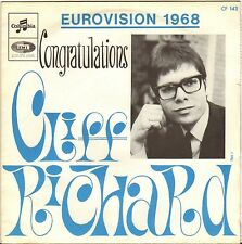"CLIFF RICHARD ""CONGRATULATIONS"" EUROVISION 1968 SP COLUMBIA CF 143"
