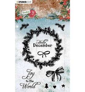 Stempel Clear stamp Sending Joy Weihnacht Kranz Wreath Studiolight SL-SJ-STAMP52
