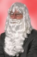DELUXE WHITE SANTA CLAUS WIG AND BEARD SET CHRISTMAS COSTUME ADULT MENS WIG 1997