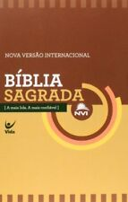 Portuguese Bible, NVI, NIV, Beige/Burgundy, Paperback, Economy edition,Brazilian