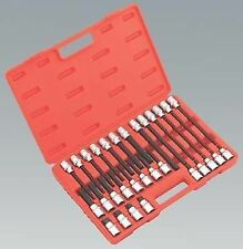 New! Hex Allen Bit Socket Set 30 Pieces on 1/2 Drive With Case 55mm - 200mm Long