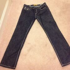 Women's Mek Denim Size 29 Dark Blue Jeans Straight Leg Low Rise