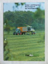 0309) Vanderhave Gräser-Mischungen Ackerfutterbau - Prospekt Brochure 80er