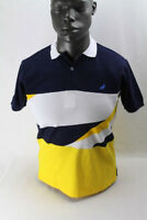 NWT Staple Pigeon S/S STRIPES POLO SHIRT NAVY 1802P4576 MSRP$58.00