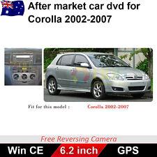 6.2 inch for toyota corolla 2002-2007 hatch Car DVD GPS Head Unit Stereo ex- mic