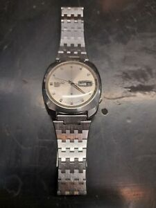 Vintage gents seiko 5 21 jewels automatic watch 6119-7080 Needs Attention.