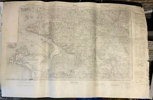 Original Unissued WW2 German 1940 Dated Map of Nantes, France
