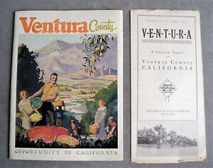 1924 VENTURA COUNTY Promotional BOOKLET & FLYER Chamber of Commerce - CALIFORNIA