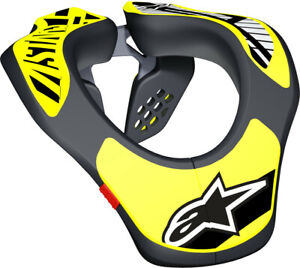 Alpinestars Youth Neck Support Protector - BLACK/YELLOW FLUO