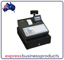 Sharp XE-A217B Flat Keyboard Cash Register Black + Logo Printing Receipts XEA217