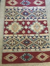 2X3 AREA RUG WOOL / COTTON HAND KNITTED CHAIN STITCH CREWEL EMBROIDERY KASHMIR