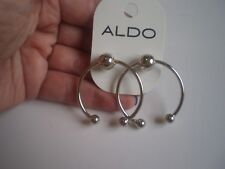 ALDO SILVER TONE HORN EARRINGS