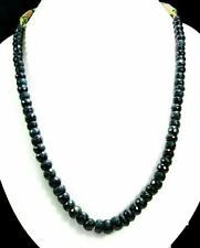 Natural Emerald 446ct Big Size Faceted Beads Gemstone Strings Necklace