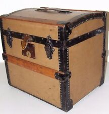 Antique c.1860 Signed French Victorian Dome Top Steamer Trunk, Rare Size! Clean!