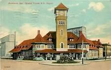 Maine, ME, Portland, Grand Trunk RR Depot Early Postcard