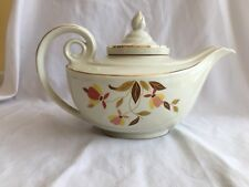Hall's Superior Quality Kitchenware AUTUMN LEAF Aladdin Teapot w/Lid & Infuser