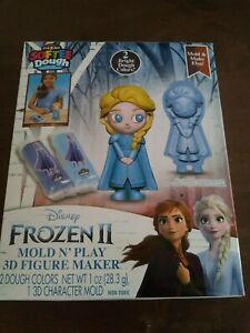 ELSA Cra-Z-Art Disney Frozen II Softee Dough Mold N' Play 3D Figure Maker New