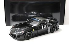 1:18 Hot Wheels elite ferrari 599xx Black #55 New en Premium-modelcars
