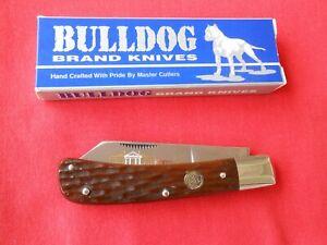 BULLDOG BRAND COTTON SAMPLER BROWN PICKED BONE HANDLES 1996 KNIFE