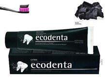 ECODENTA EXTRA Organic Black Whitening Toothpaste with Black Charcoal & Teavigo
