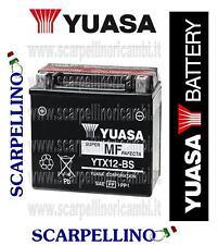 BATTERIA YUASA YTX12-BS CON ACIDO E TON POLARIS SUZUKI SYM TRIUMPH VESPA YAMAHA