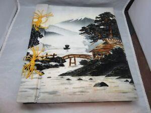 Vintage musical, padded velvet photo album scrapbook. Japan