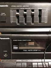 New listing Panasonic Sg-Hm09A Stereo Equalizer Cassette Radio Turntable Audio System Tested