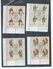 Switzerland stamps. 1990 Pro Patria set used blocks of 4 (G058)