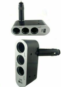 ProFones 3Way 5AMP Single Usb Socket In Car Cigarette Lighter Splitter Adapter