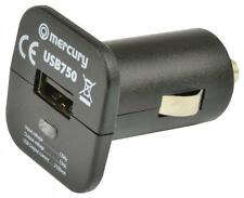 Mercury 421.750 Ultra Compact 12Vdc In Car Charger For Mobile Devices 5V 2100mA