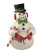 NEW Bethany Lowe Large Dapper Top Hat Snowman Christmas Figure TJ3172