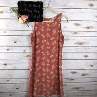 J. Crew Womens Floral Dress Size 8 Keyhole Sleeveless Pink Peach 21