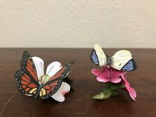 Franklin Mint Butterflies Of The World Figurines Fp85 Lot Of 2