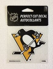 "Pittsburgh Penguins 4"" x 4"" Logo Truck Car Window Die Cut Decal Color New NHL"