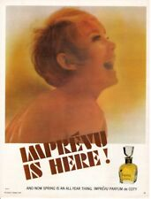 Vintage Beauty Fashion ad 1966 Perfume Imprevu is Here  by Coty Spring All Year