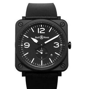 BELL & ROSS  Instruments  BRS-BL-CEM Black Dial Men's Watch Genuine FreeS&H