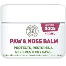 Dog Paw Nose Care Balm Cracked Itchy Paws Protection Cruelty Vegan 100ml UK