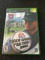 EA SPORTS TIGER WOODS PGA TOUR 2003 - XBOX - WORKS ON 360 - MISSING MANUAL (B)